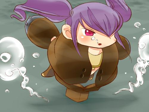 泳ぐ明井さん