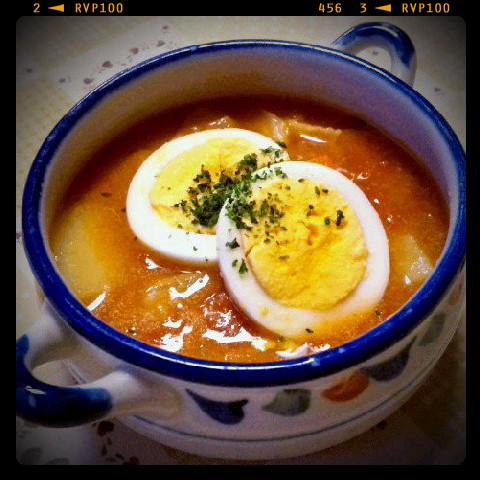 白菜とトマトのスープ